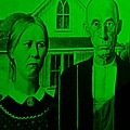 American Gothic In Green by Rob Hans
