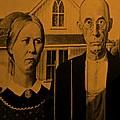 American Gothic In Orange by Rob Hans
