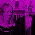 American Gothic In Purple by Rob Hans