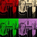 American Gothic In Quad Colors by Rob Hans