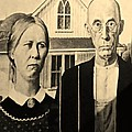 American Gothic In Sepia by Rob Hans