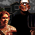 American Gothic Resurrection - Version 2 by Wingsdomain Art and Photography
