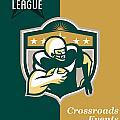 American Gridiron All Star League Poster by Aloysius Patrimonio