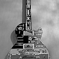 American Guitar In Black And White by Rob Hans