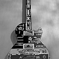 American Guitar In Black And White1 by Rob Hans