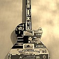 American Guitar In Sepia by Rob Hans