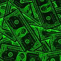 American One Dollar Bills Pop Art by Keith Webber Jr