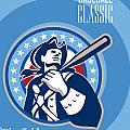 American Patriot Pro Baseball Classic Poster Retro by Aloysius Patrimonio