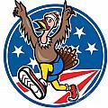 American Turkey Run Runner Cartoon by Aloysius Patrimonio