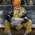 Americana - People - Casually Reading A Newspaper by Mike Savad