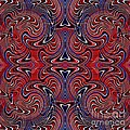 Americana Swirl Design 3 by Sarah Loft