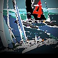 America's Cup 2013 Poster by Andrew Drozdowicz