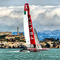 America's Cup And Alcatraz Ll by Michelle Calkins