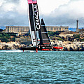 America's Cup And Alcatraz by Michelle Calkins