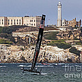 Americas Cup Oracle Team And Alcatraz by Kate Brown