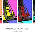 America's Cup Poster 3 by Andrew Drozdowicz