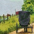 Amish Buggy In Ohio by Dan Sproul
