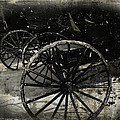 Amish Cart Wheels Grunge by Cassie Peters
