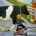 Amish Cattle Crossing by Beverly Hanni