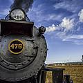 Amish Farmland And Brilliant Blue Sky Frame #475 Steam Engine - Strasburg Rr   02 by Mark Serfass