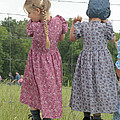 Amish Girls Having Fun by Dwight Cook