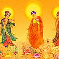 Amitabha And Two Bodhisattvas by Jeelan Clark