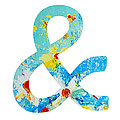 Ampersand Symbol Art No. 3 by Patricia Awapara