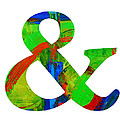 Ampersand Symbol Art No. 4 by Patricia Awapara