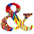 Ampersand Symbol Art No. 5 by Patricia Awapara