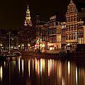 Amsterdam At Night by Ann Garrett