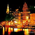 Amsterdam At Night Four by John Malone