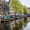 Amsterdam Canal In Spring by Artur Bogacki