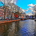 Amsterdam Canal In Spring by Elvis Vaughn