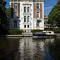 Amsterdam Canal Mansions - Bright White Symmetry  by Georgia Mizuleva