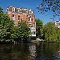 Amsterdam Canal Mansions - Floating By by Georgia Mizuleva