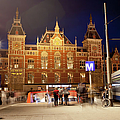 Amsterdam Central Station And Metro Entrance by Artur Bogacki