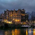 Amsterdam Corner Cafe by Ann Garrett