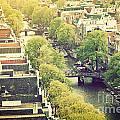 Amsterdam Holland Netherlands In Vintage Style by Michal Bednarek