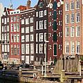 Amsterdam Houses Ar Sunset by Artur Bogacki