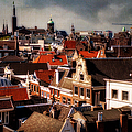 Amsterdam Roofs. View From Metz Cafe by Jenny Rainbow