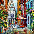 Amsterdam Street by Leonid Afremov