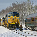 Amtrak And Csx Crews by Cliff Middlebrook