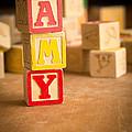 Amy - Alphabet Blocks by Edward Fielding