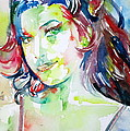 Amy Winehouse Watercolor Portrait.1 by Fabrizio Cassetta