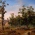 An Aboriginal Encampment Near The Adelaide Foothills by Mountain Dreams