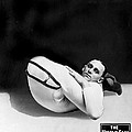 An Advertising Contortionist by Underwood Archives