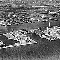 An Aerial View Of Ellis Island by Underwood Archives