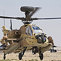 An Ah-64d Saraf Attack Helicopter by Ofer Zidon