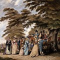 An Airing In Hyde Park, 1796 by Edward Days