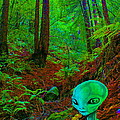 An Alien In A Cosmic Forest Of Time by Ben Upham III
